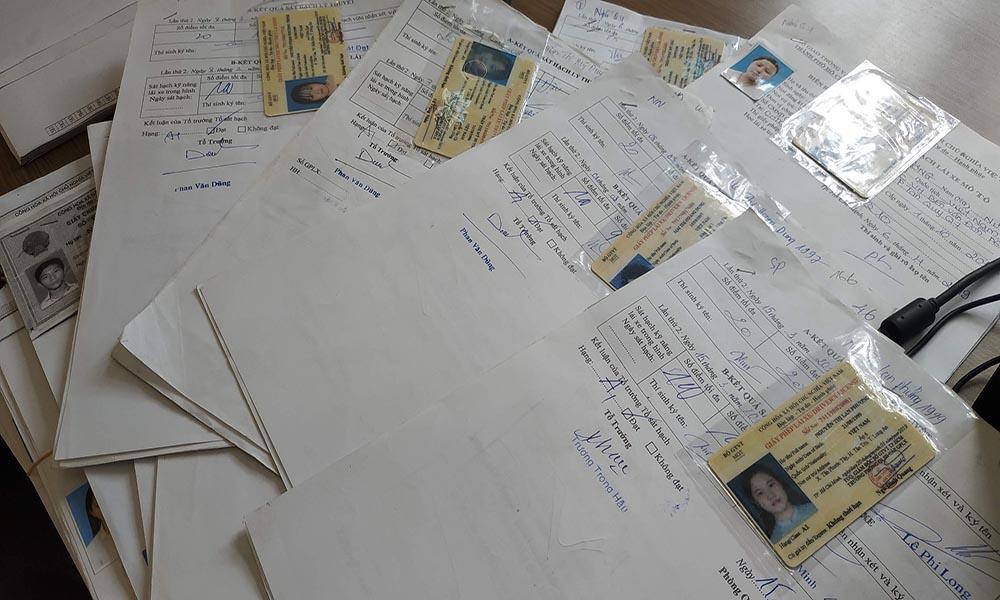 Hồ sơ thi bằng lái xe máy