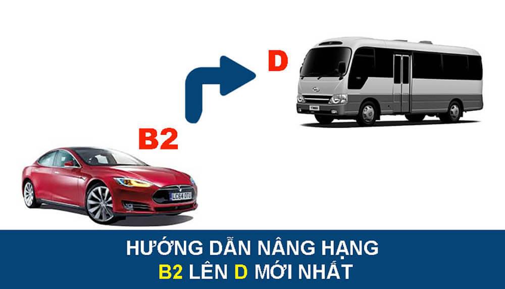 Nâng từ B2 lên D rồi D lên E